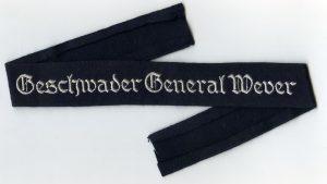 Cuff title Geschwader General Wever / Ärmelband Geschwader General Wever