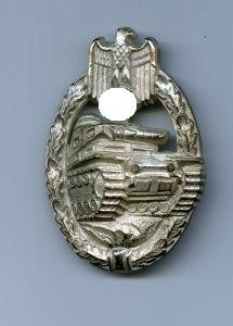 Panzer Assault Badge Silver hollow Hymmen , Panzerkampfabzeichen Silber