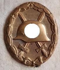 Wounded Badge Gold L 53 Hymmen (1) Verwundetenabzeichen Gold