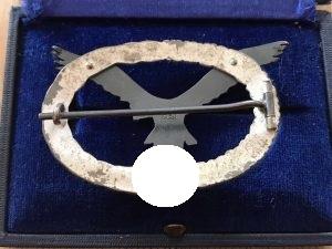 Pilot Badge first form 1935 backside